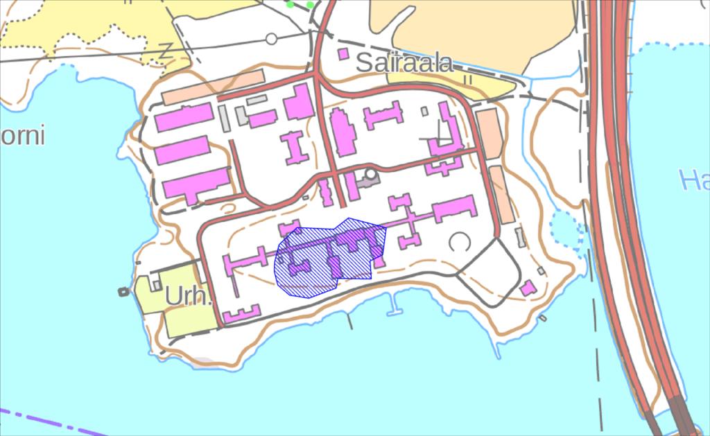Pitkäniemen historiallisen kylätontin karttaote.