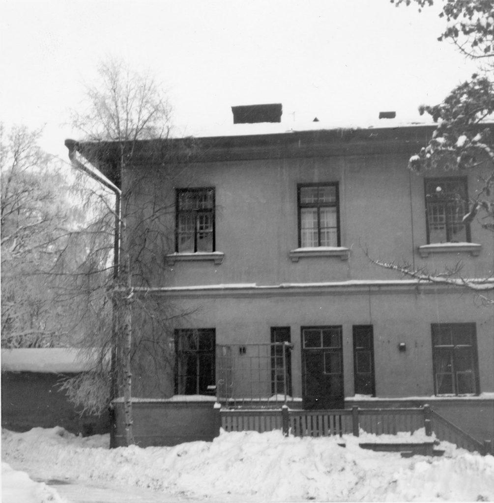 Rakennus 3 julkisivu 1967.