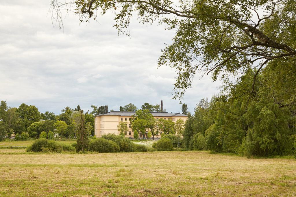 Yleiskuva Pitkäniemen sairaalasta.